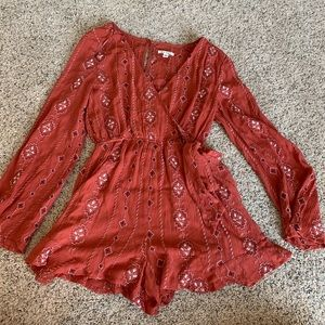 Burnt red romper